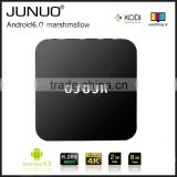 JUNUO 2016 newest firmware update Amlogic s905x A53 quad core 2g 8g android6.0 internet digital video streaming tv set top box