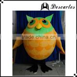 Best selling bird plush mascot costume, adult owl walking costume for sale