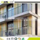 Curtain wall composite cement panels solid-colored facade