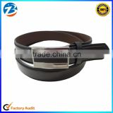 2016 New Design Casual Belt Black Square Alloy Buckle Leather Belt China Factory Wholesale