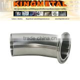 316L Stainless Steel Sanitary Pipe Fitting L2km Clamped and Welded Elbow Schedule 10