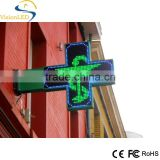 china shenzhen wholesale LED display pharmacy cross sign in outdoor led pharmacy flash display rack Jesus