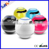 FM radio Music player built-in subwoofer round shape LED mini bluetooth speaker for gift