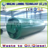 16mm thickness reactor waste tyre pyrolysis equipment with no Pollution