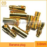 2.0mm 3.0mm 4.0mm Gold Plated Male Female Banana Plug Bullet Connector Replacement
