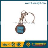high quality promotional logo printed trolley coin keychain