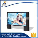 Durable outdoor acrylic aluminum frame LED waterproof light box for digital signage