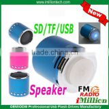 Blue/Red Line in Portable speaker with FM Micro SD TF Stereo Speaker Music MP3 Player Amplifier