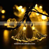2015 new hot morning Glory Shape 20LED Solar Power Outdoor Garden String Lights Party christmas