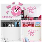 Vinilos Paredes Butterfly Wall Decal Clock 3d Home Decoration Mural Stickers For Sofa Living Bed Room Sa-1-004