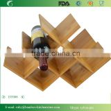 DT008/ Perfect for a Classy Gift Bamboo Wooden Wine Bottle Rack Table Standing Top Storage