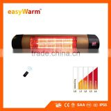 2000W Infrared Electric Patio Heater With Remote Control & Digital Display
