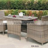 San Juan 3 Piece All Weather Wicker Bistro Set