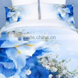 four six 2014 new 3D fashion red flower reactive printing duvet cover set