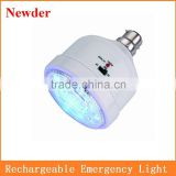Solar rechargeable bulb, AC/DC LED emergency bulb