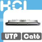 Taiwan Manufacturer 24 Port RJ45 Cat6 Unshielded UTP 8-in-1 Station ID Modular Patch Panel