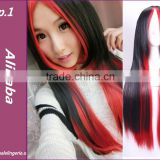 2015 New Fashion Harajuku Cosplay Anime Wig Young Heat Colorfull Ombre Wig Party Synthetic Wigs With Bangs