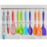 High Quality 10pcs nylon handle Silicone Cooking Tool Set Wholesale G19