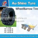 wholesale 4.80/4.00-8 wheelbarrow pneumatic rubber tire/ 4.00-8 wheel barrow wheel with plastic rim wheels