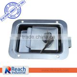 Polished Stainless Steel Recessed Truck Body Toolbox Lock