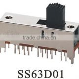 SS63D01 6P3T slide switch