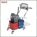 Hotel House Keeping Double Mop Wringer Trolley