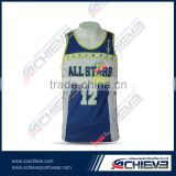 2015 Cheap Custom sublimated reversible basketball jerseys with numbers printed reversible basketball uniforms