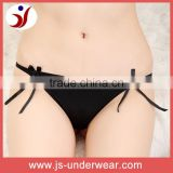 Ladies new fashion black comfortable cotton thong g-string panties