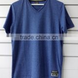 men's V neck t-shirt with soft print