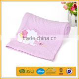high-grade 100% bamboo fiber soft brush home embroidery baby blanket