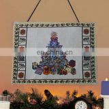 newest fabric christmas tapestry wall hanging
