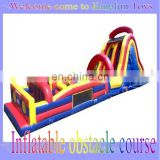 Inflatable obstacle course for fun