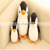 Promotional custom stuffed plush toy cartoon character figure logo , polyester Penguin design realistic printed