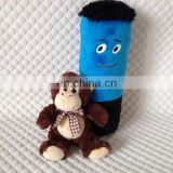 Naughty monkey with ribbon tiny soft plush toy