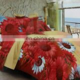 3d duvet cover set /softtextile 3d bed sheet set in a bag/ reactive printing cotton bedding set
