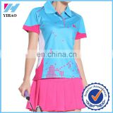 2014 New discount summer badminton clothing set women's sports wear slim comfortable tennis dresses shirts