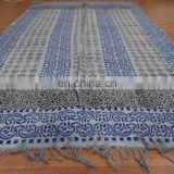 Indian Woven Cotton Rug Handmade Mat Multicolor Dari