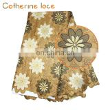 Catherine Import China Products Designs High Quality Embroidery Swiss Voile Flower Lace
