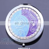 Fashion vintage makeup mirror round side compact mirror from china
