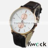 Promotion New Arrival Brown Leather Wristwatches Watches Man Big Size Sports Casual Watch