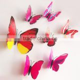 2015 decorative 3d butterfly stickers for home