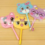 wholesale pen fan children pen for school, stock cute funny creative ball pen for kids