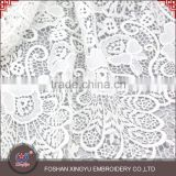 Hot Sale functional flowers embroidery patterns lace embroidered fabric for cutwork embroidery dress                                                                         Quality Choice