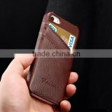 Luxury slim clear engraving brown real leather for Iphone case 5 S                                                                         Quality Choice
