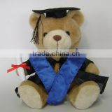 plush graduation teddy bear/plush graduation teddy bear toys/plush toy graduation teddy bear
