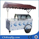 Durable crepe cart with 100% original street food cart design,movable ice cream vintage cart for sale