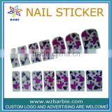 shinning pink cartoon rabbite nail stickers
