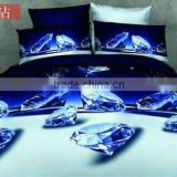 4pcs home textile cotton 3D rose printing bedding set 3D duvet cover set classic bed set made in china
