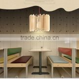 Wooden LED pendant light JK-8005B-04 Hot Selling Decorative Modern Led wood Pendant Lamp For Hotel