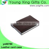 Factory hot selling pu leather business card holder for souvenir
